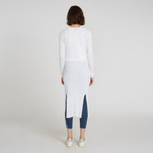 Load image into Gallery viewer, Cotton Rib Maxi Cardigan in Bleach White