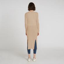 Load image into Gallery viewer, Longline Cotton Rib Maxi Cardigan in Beige by Autumn Cashmere | Women's Clothing & Knitwear