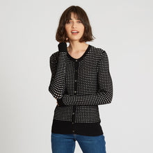 Load image into Gallery viewer, 2-Tone Pointelle Cardigan
