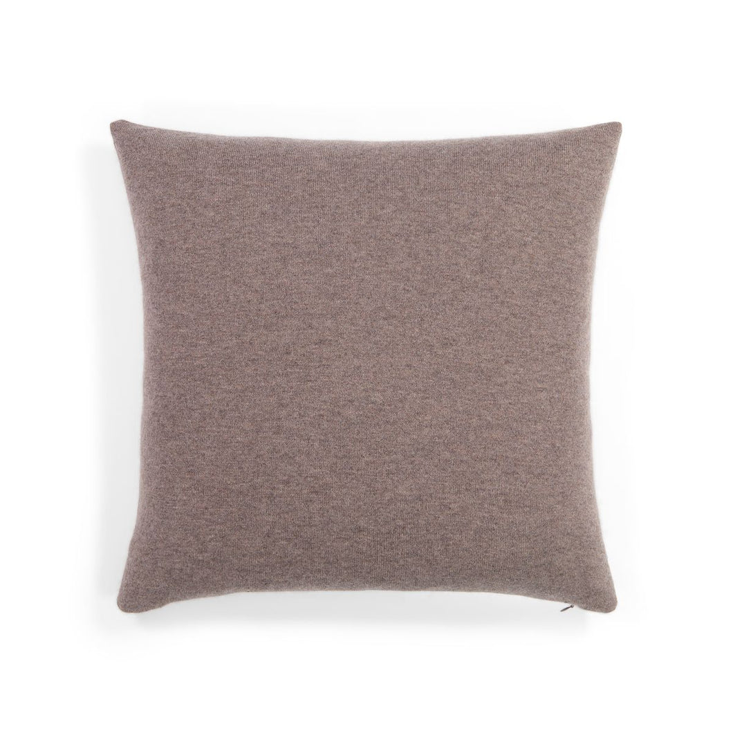 Two-Tone Cashmere Pillow in Rye/Pepperberry