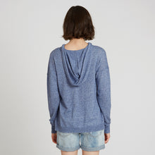Load image into Gallery viewer, Distressed Cashmere Hoodie in Blue