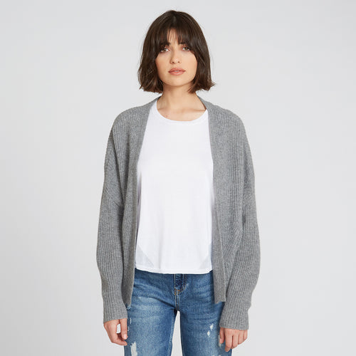 Cashmere Shaker Open Cardigan