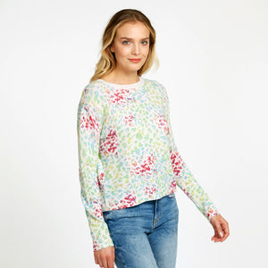 Multi Color Leopard Crew Pullover | Women's Apparel & Clothing | Autumn Cashmere
