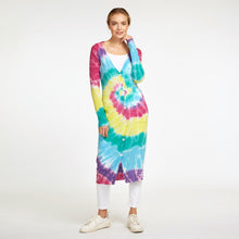 Load image into Gallery viewer, Tie Dye Maxi Cardigan Rainbow | 100% Cashmere | Women's Apparel | Autumn Cashmere