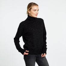 Load image into Gallery viewer, Relaxed Mock with Cuff Detail in Furnace | Autumn Cashmere