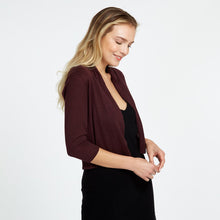 Load image into Gallery viewer, Shawl Collar Crop Cardigan in Maroon | Autumn Cashmere