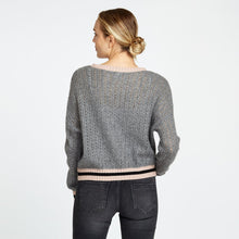 Load image into Gallery viewer, Pointelle Crew with Lurex Hem | Autumn Cashmere