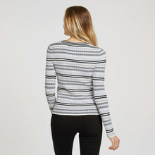 Load image into Gallery viewer, Athletic Flame Stitch Crew | Athletic Stripes | Women's Apparel | Viscose Blend | Autumn Cashmere