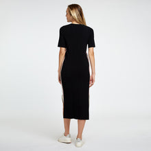 Load image into Gallery viewer, Short Sleeve Midi Dress with Racing Stripe | Autumn Cashmere