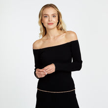 Load image into Gallery viewer, Lettuce Ribbed Off The Shoulder Top | Autumn Cashmere