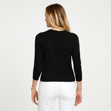 Load image into Gallery viewer, Angelina Baby Cardigan in Black with Speckles | Easy Crop Cardigan | Women's Apparel | Autumn Cashmere