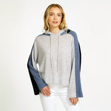 Load image into Gallery viewer, Color Blocked Cropped Hoodie Pullover Sweater | Women's Apparel | Autumn Cashmere