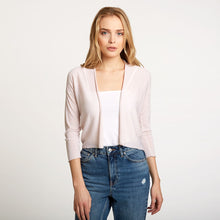 Load image into Gallery viewer, Easy Crop Cardigan in Toeshoe Pink | Autumn Cashmere