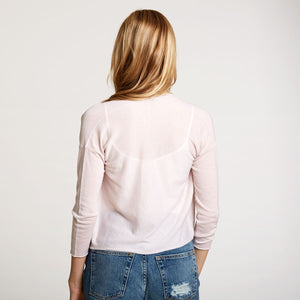 Easy Crop Cardigan in Toeshoe Pink | Autumn Cashmere