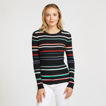 Load image into Gallery viewer, Multi Stripe Rainbow Rib Crew | Pullover Sweater | Women's Clothing & Knitwear | Autumn Cashmere
