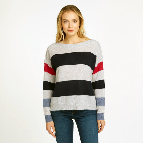 Striped Boatneck Pullover | Women's Apparel | Stripe Sweater | Autumn Cashmere