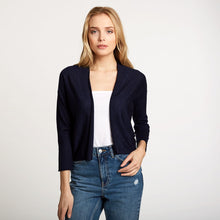 Load image into Gallery viewer, Easy Crop Cardigan in Navy | Autumn Cashmere