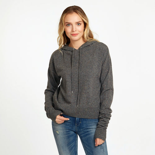Boxy Hoodie with Scrunch Sleeves