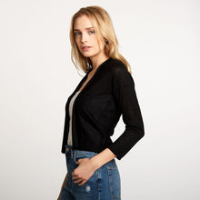 Load image into Gallery viewer, Easy Crop Cardigan in Black | Autumn Cashmere
