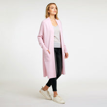 Load image into Gallery viewer, Open Maxi Cardigan with Pockets in Pink | Cashmere Cardigan | Women's Apparel & Knitwear | Autumn Cashmere