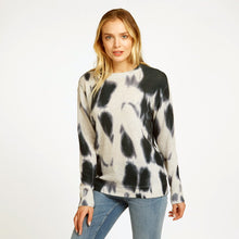 Load image into Gallery viewer, Blotch Print Boyfriend Crew Pullover Sweater | Women's Apparel | 100% Cashmere | Autumn Cashmere