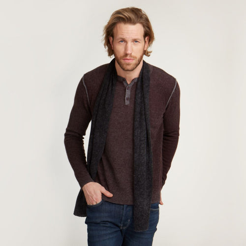 Inked Henley in Maroon | Men's Clothing & Shirts | Autumn Cashmere