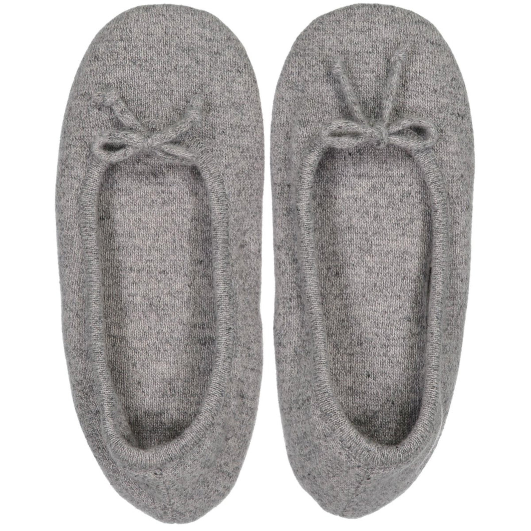Cashmere Ballet Slipper in Grey