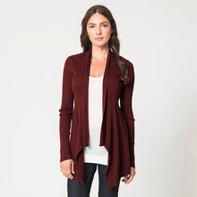 Load image into Gallery viewer, Cashmere Rib Drape in Wine