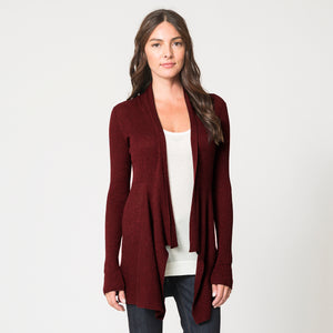 Cashmere Rib Drape in Wine