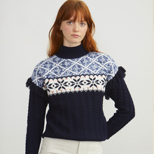 Load image into Gallery viewer, Fair Isle Fringe Mock