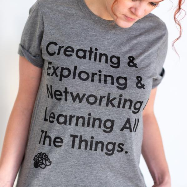 Rochester Brainery Learning All The Things Tee