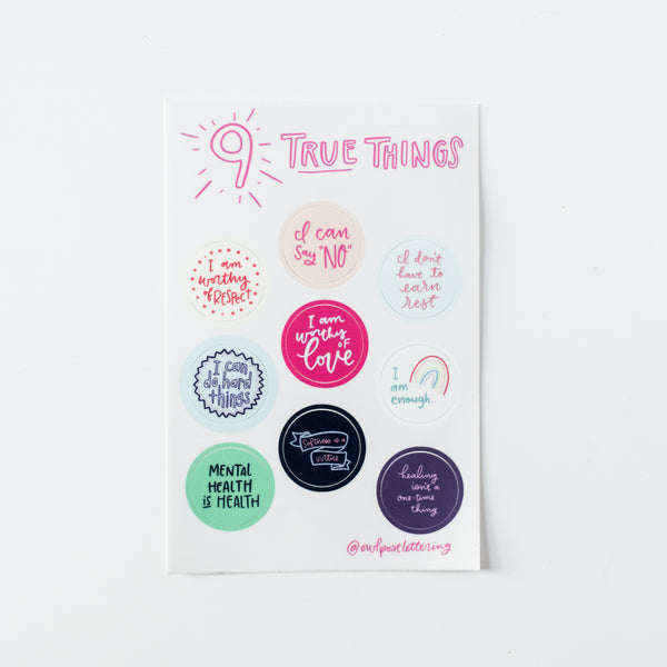 Anna Parade 9 True Things Sticker Sheet