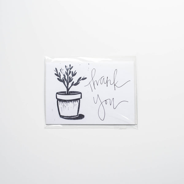 Ink and Pine Design Thank You Card