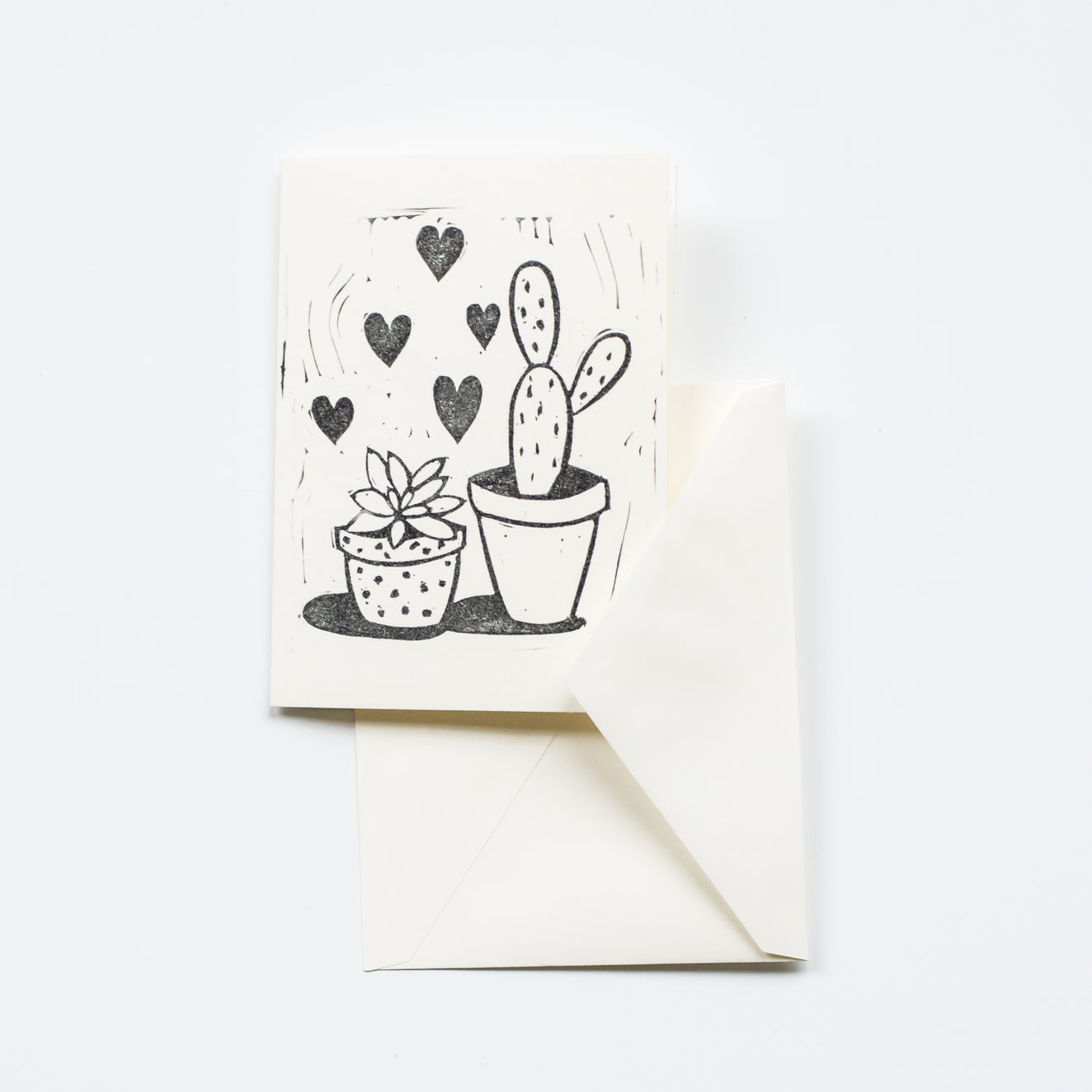 Prickly Valentine's Day Card By Ink & Pine Design