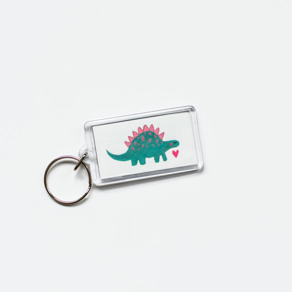 Dinosur Keychain by Bless The Messy