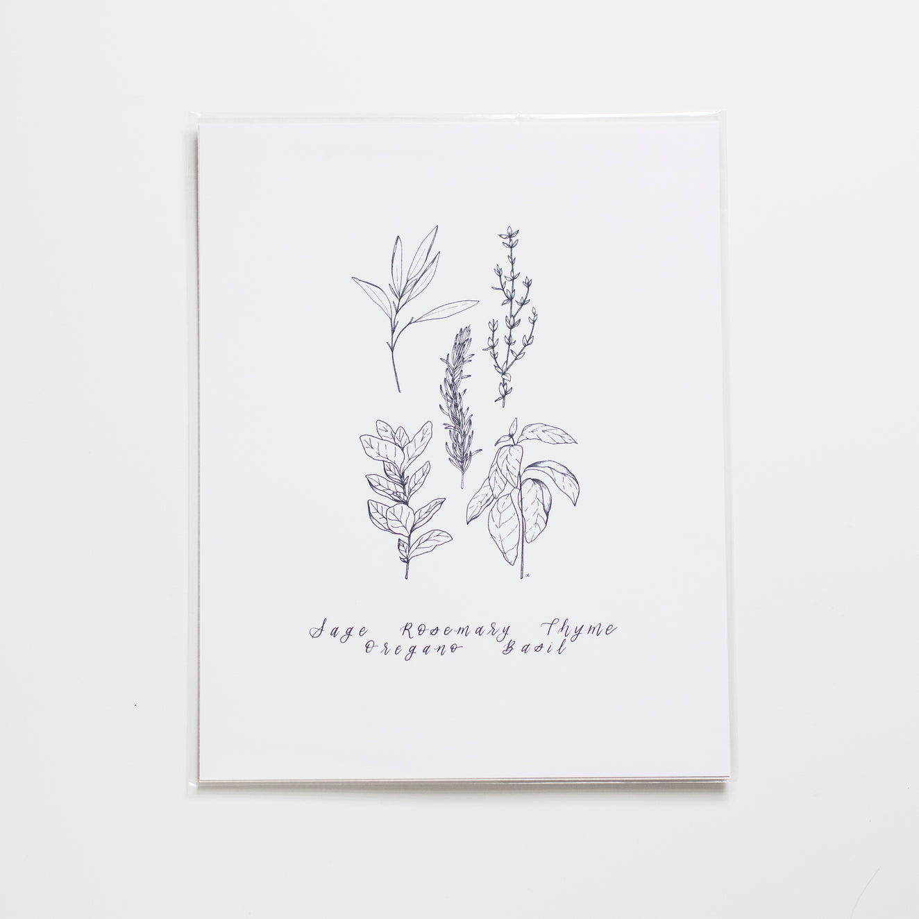 The House of Roushey: Herbs Print