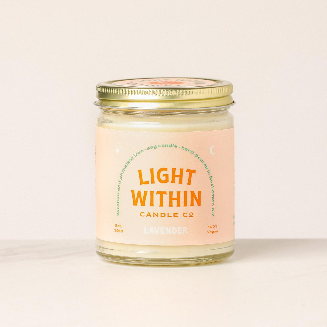 8oz Eucalyptus Mint Light Within Candle Co. Candle