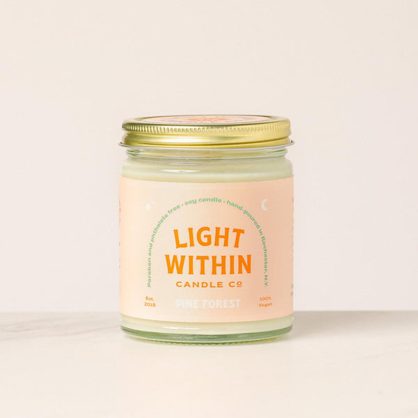 8oz Pine Forest Light Within Candle Co. Candle