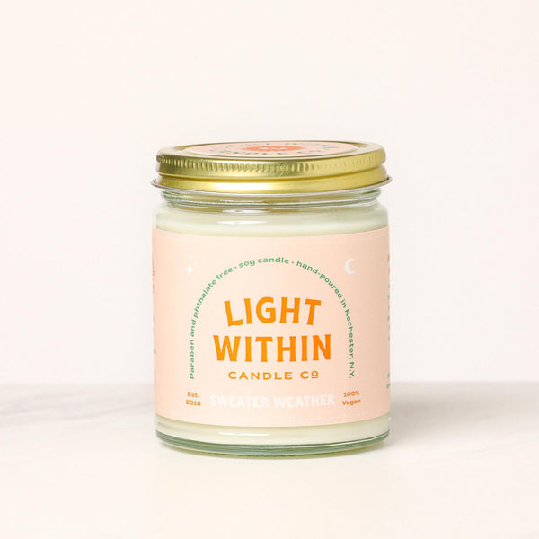 8oz Sweater Weather Light Within Candle Co. Candle