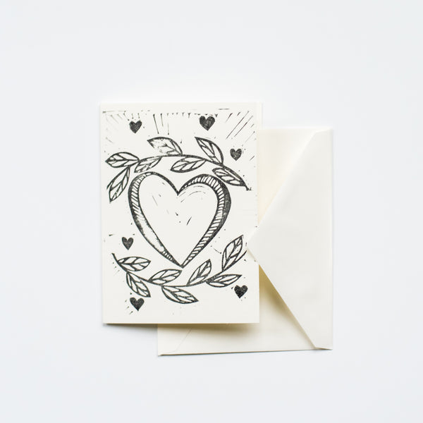 Hearts & Vines Valentine's Day Card By Ink & Pine Design
