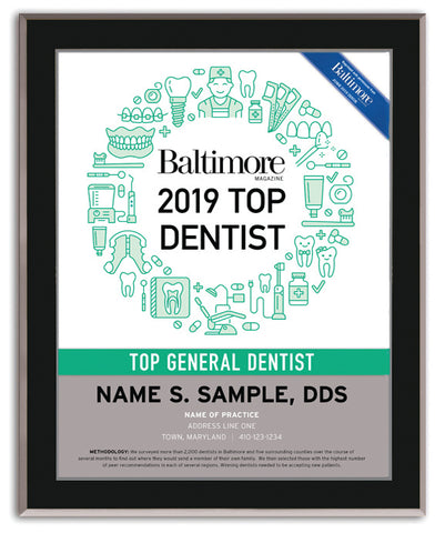 Top Dentist 2019 Plaque
