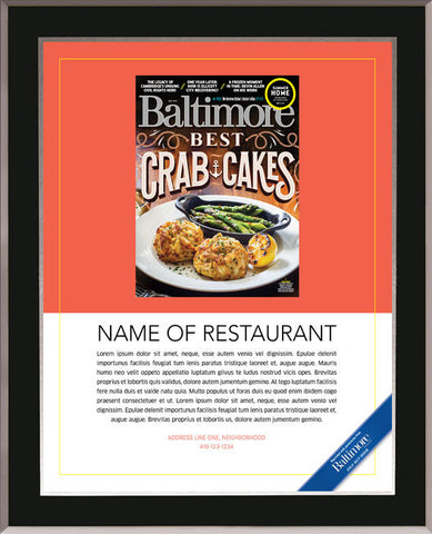 Best Crab Cakes 2017 Plaque