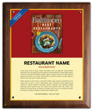 Best Restaurants 2020 Plaque