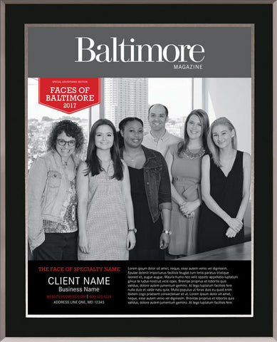 Faces of Baltimore 2017 Plaque