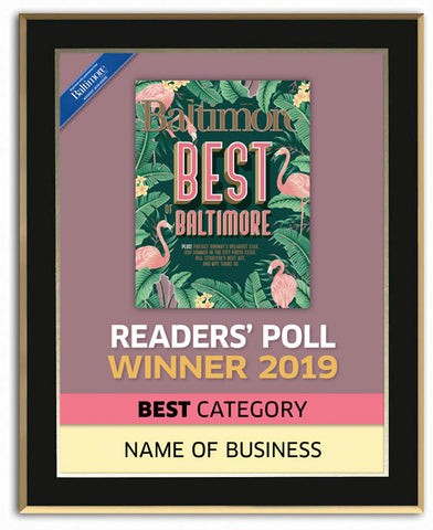 Best of Baltimore 2019 Readers' Choice Plaque