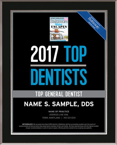 Top Dentists 2017 Plaque