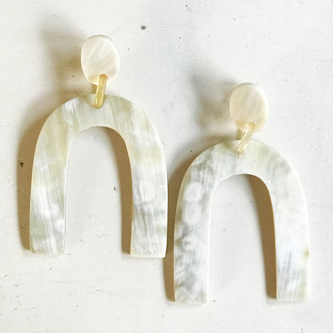 Horseshoe Horn Earrings by Sunshine Tienda
