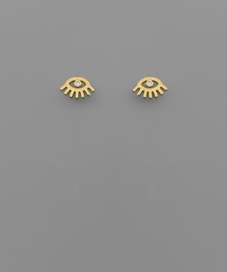Eye Studs in gold
