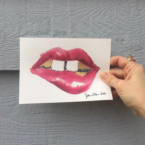 Mini Georgia Pink Lips by Sullivan Anlyan