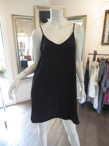 Double Georgette Slip in black by Lola & Sophie